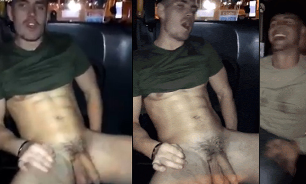 straight guy naked in taxi