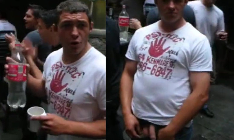 rugger flashing cock in public