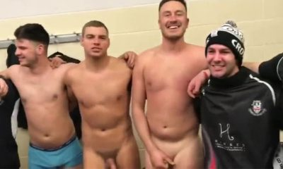 naked rugby players in the locker room