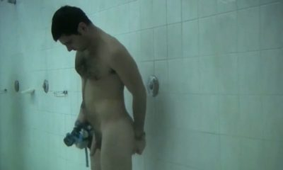 spy on guy in the communal shower