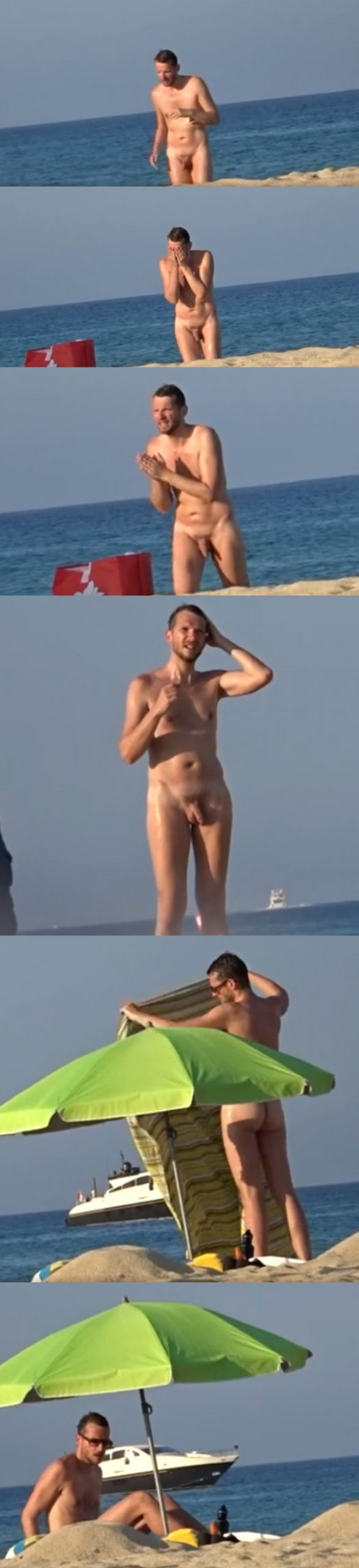 nudist man caught by spycam