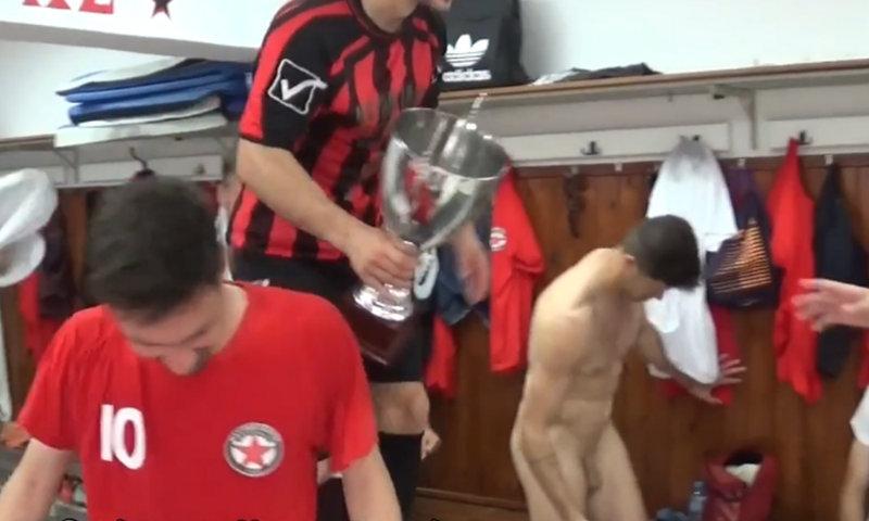 greek footballer caught naked in locker room