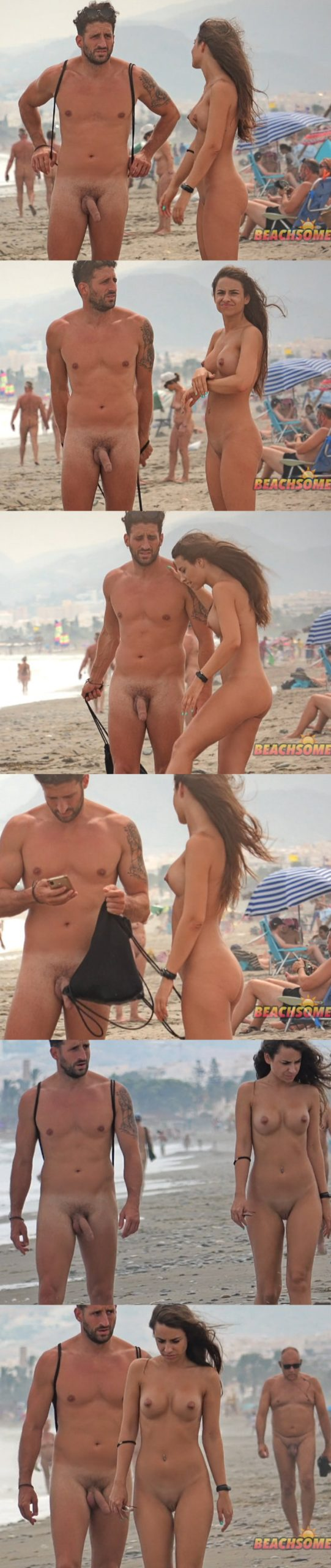 spy on straight nudist guy at the beach