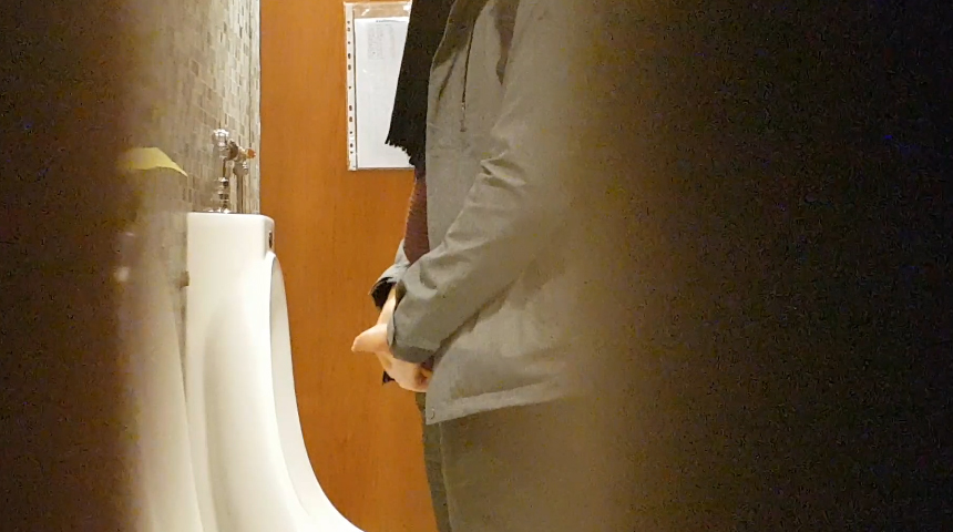 spy on uncut student peeing at urinal