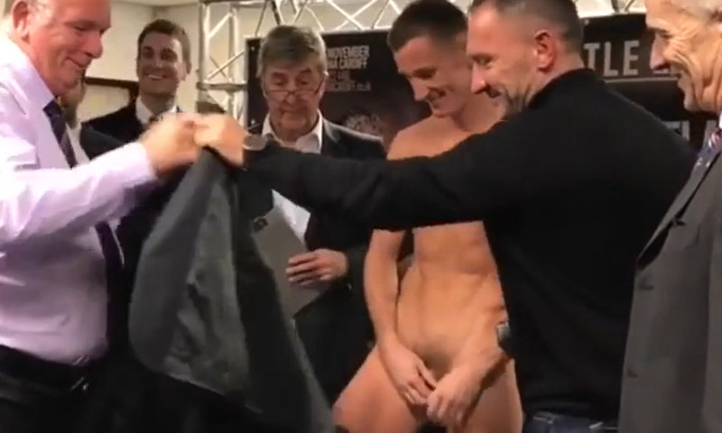 wrestler naked during weigh in