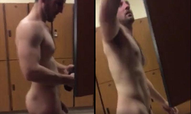 naked man caught in locker room