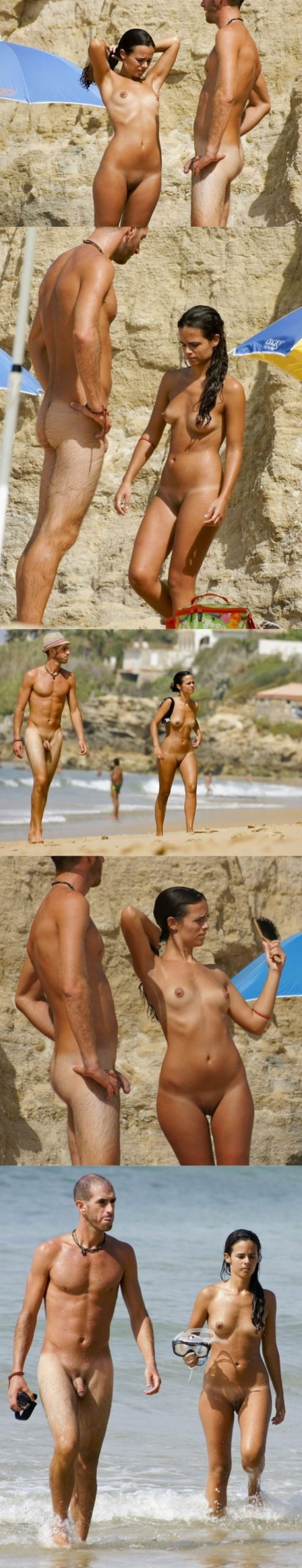 straight nudist man caught at the beach