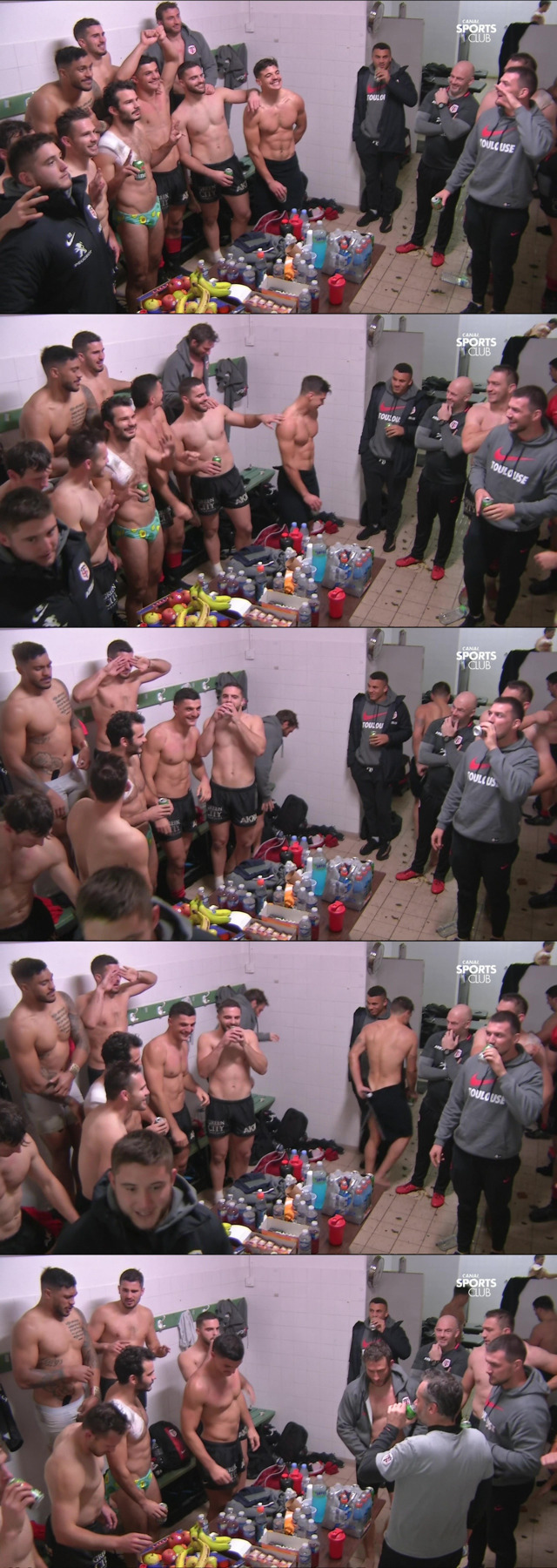 french rugby players in underwear