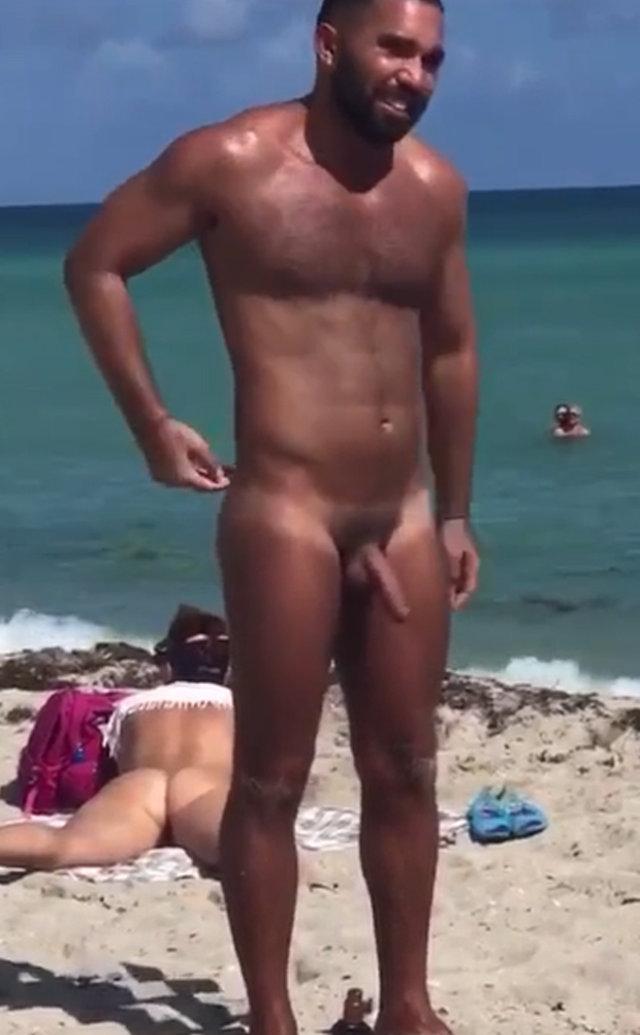 spy on arab nudist man at the beach