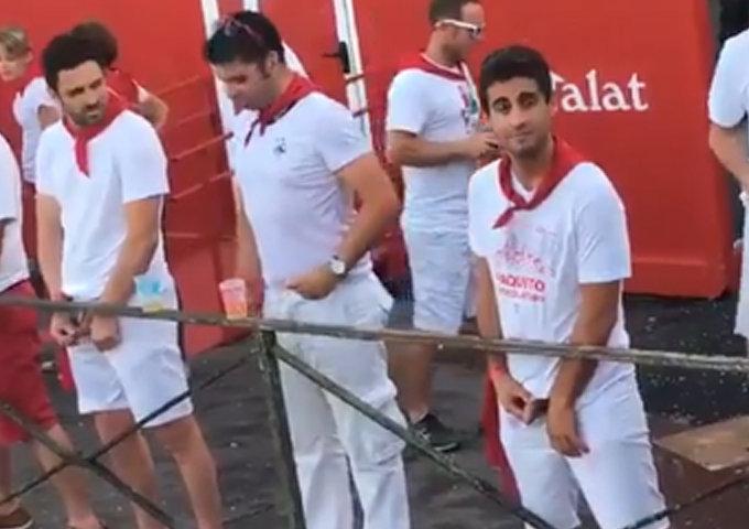 guys caught peeing in public bayonne feria
