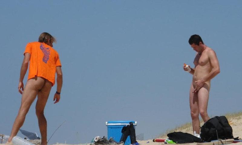 spy on nudist men at the beach