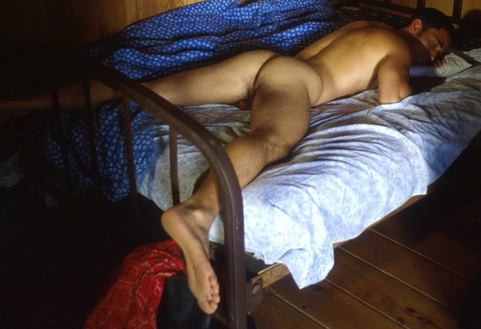 spy on guy sleeping naked