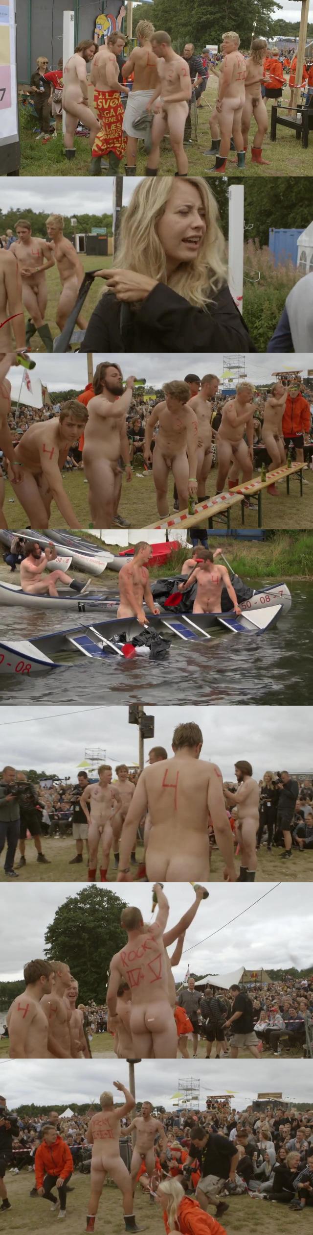 naked guy in public denmark festival
