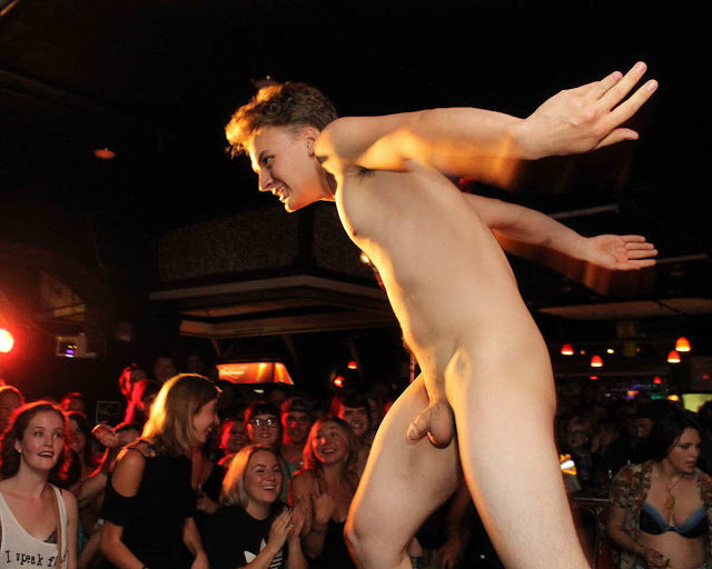 guy dancing naked in a club