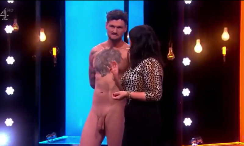 straight guy rigby naked on tv at naked attraction