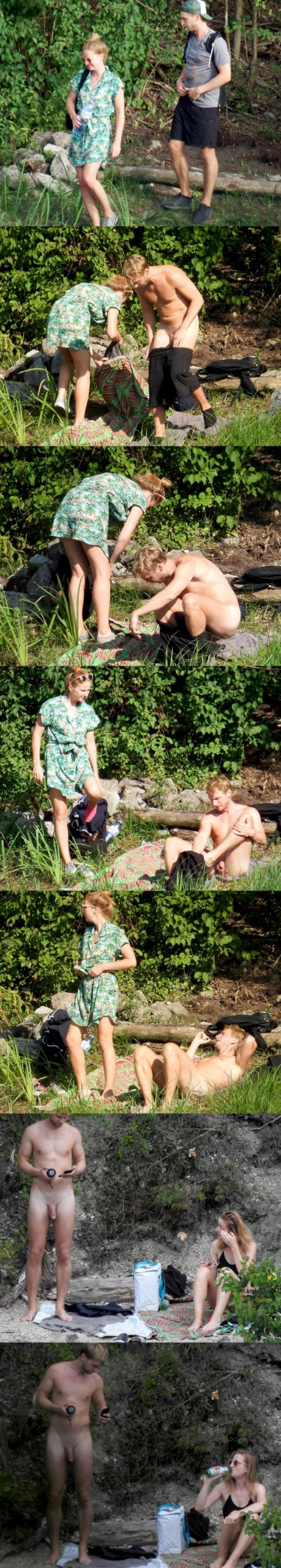 straight nudist man caught at the river
