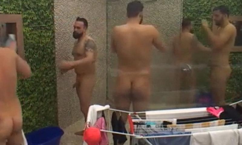 big brother guys naked showering together