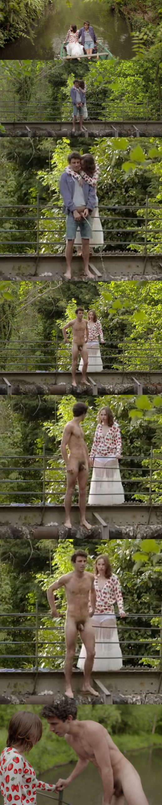 male actor peeing in french movie