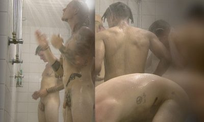 guys caught naked in a steamy communal shower