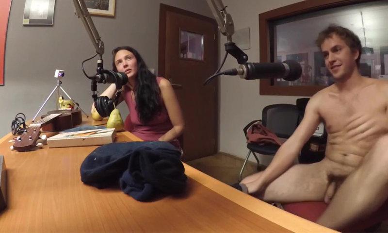 Czech singer stripping on radio show