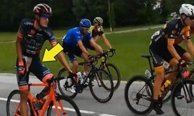 cyclists caught peeing