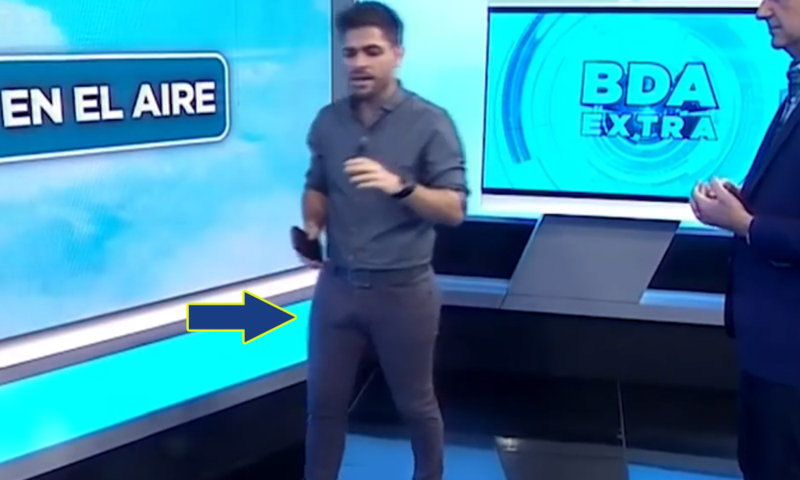 male tv anchor with big bulge