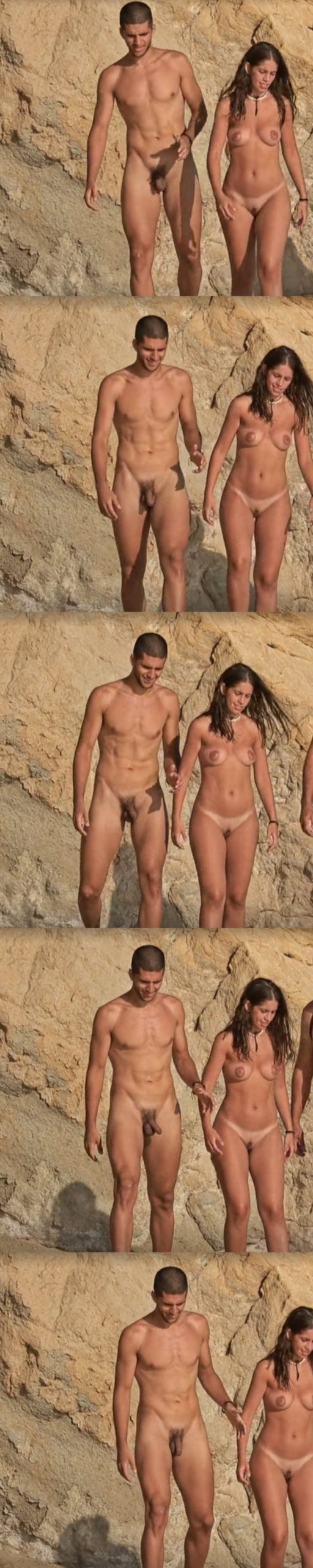 straight nudist guy caught naked over a naturist beach by hidden cam