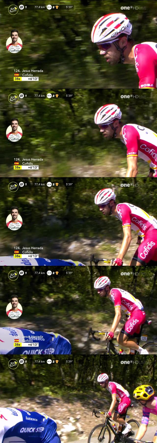 cyclist jesus herrada caught peeing during tour de france