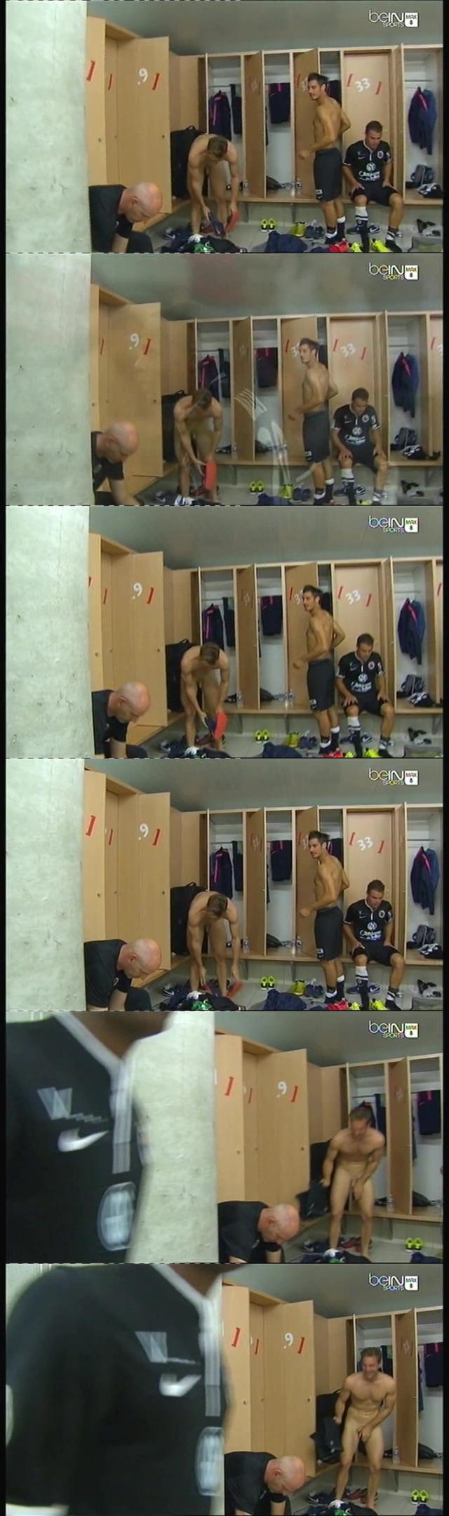 Footballer Damien Perquis accidental dick exposure