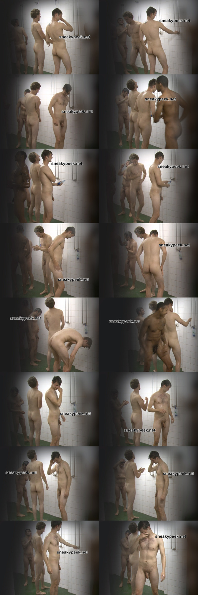 hot footballers caught showering together in communal shower