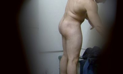 nice man with bubble ass caught naked in lockerroom