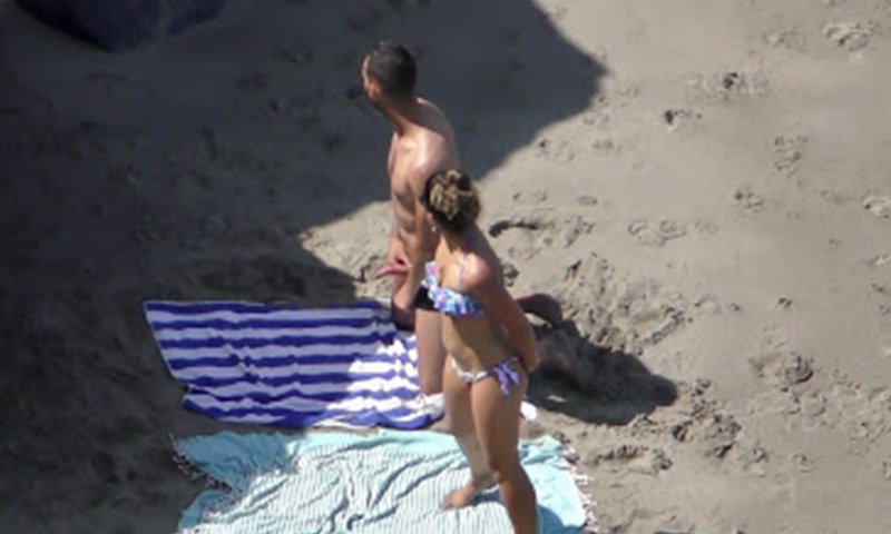 nudist guy caught with hard on at the beach