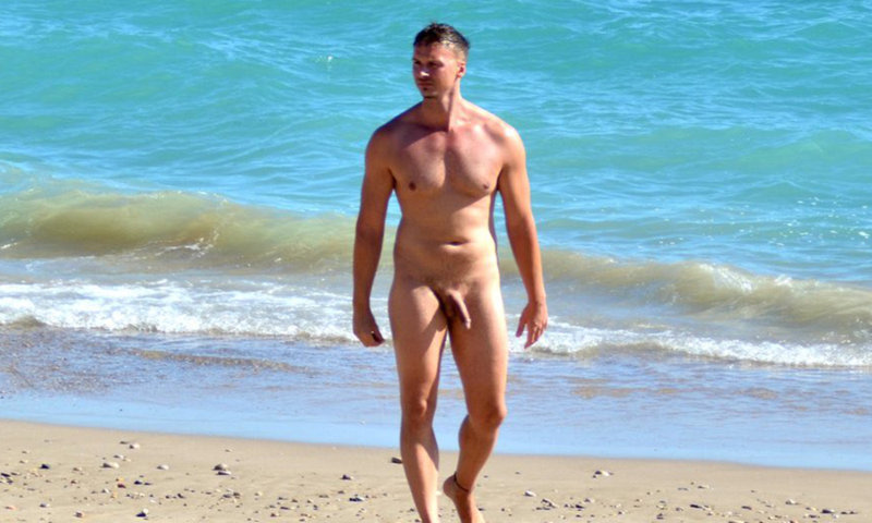 nudist hung guy caught by hidden camera at the beach