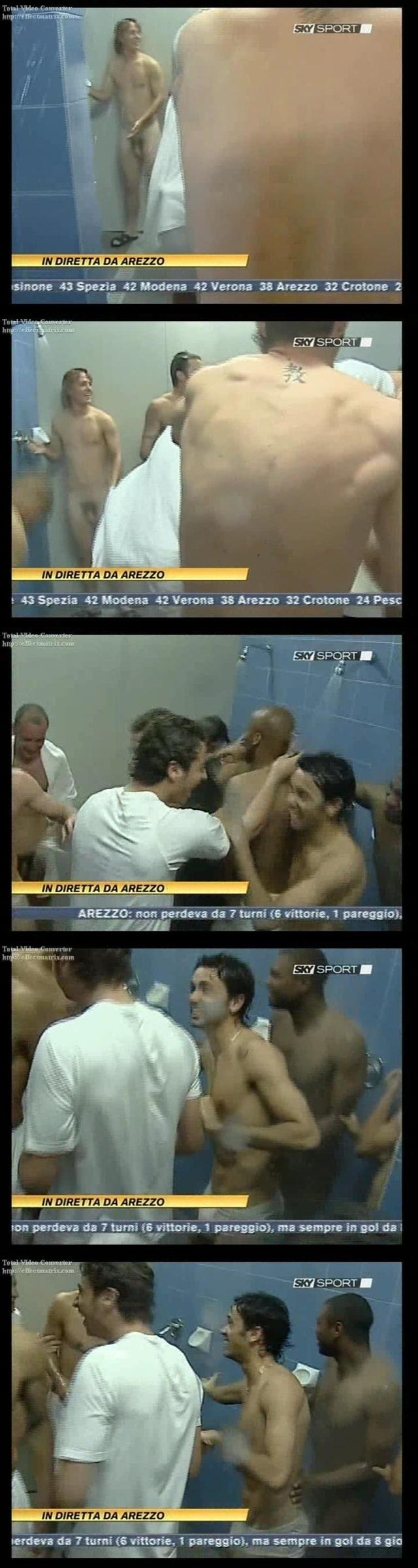 italian footballers caught naked in shower on tv