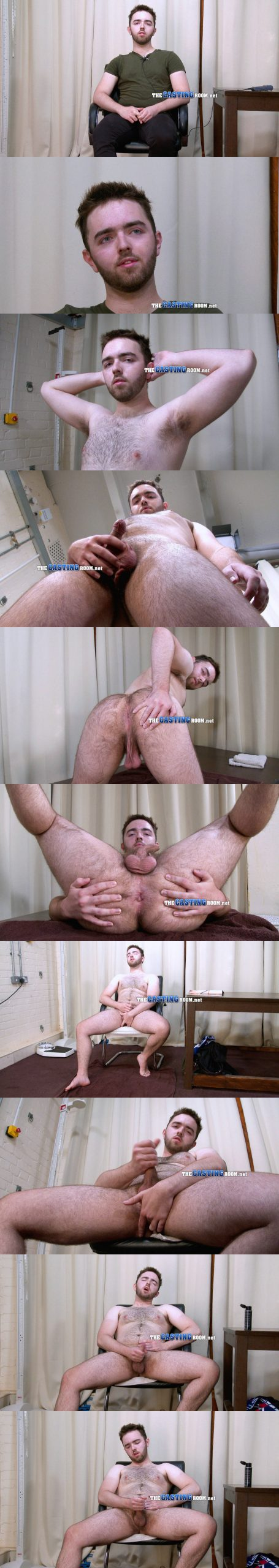straight guy evan stripping naked and wanking porn casting