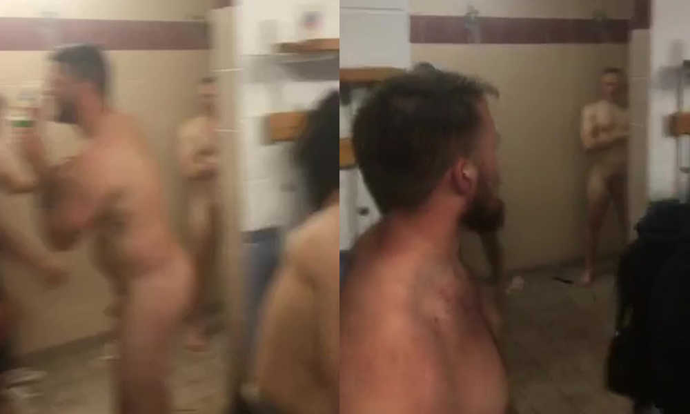 capturing naked rugby players in locker room and shower