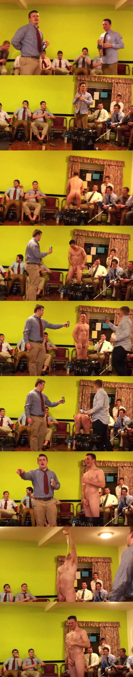 rugby guy newbie stripped in front of his mates