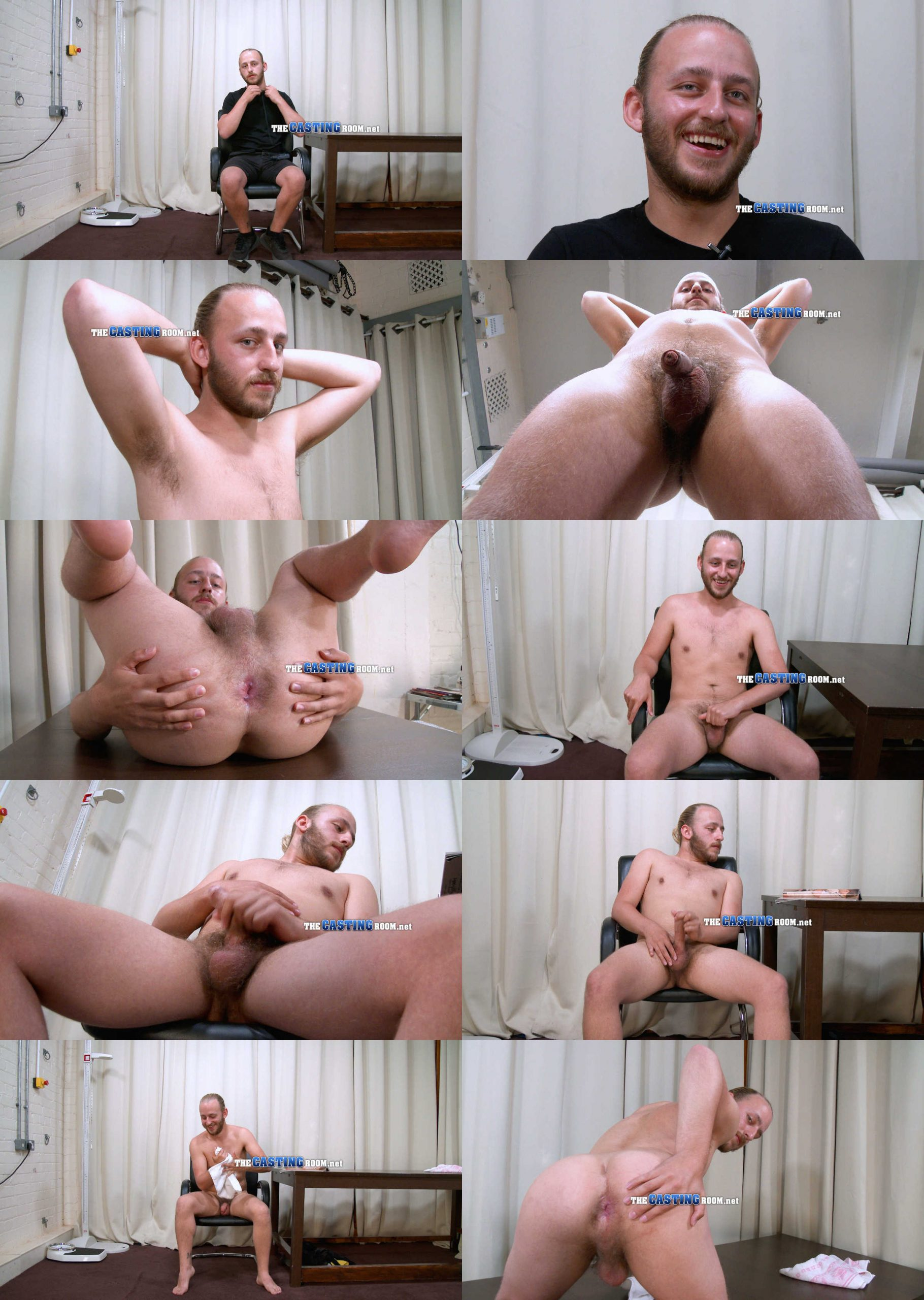 sacha stripping naked and wanking thecastingroom