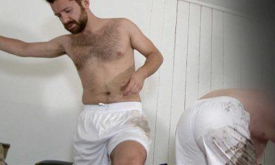 spy on straight footballer naked in locker room