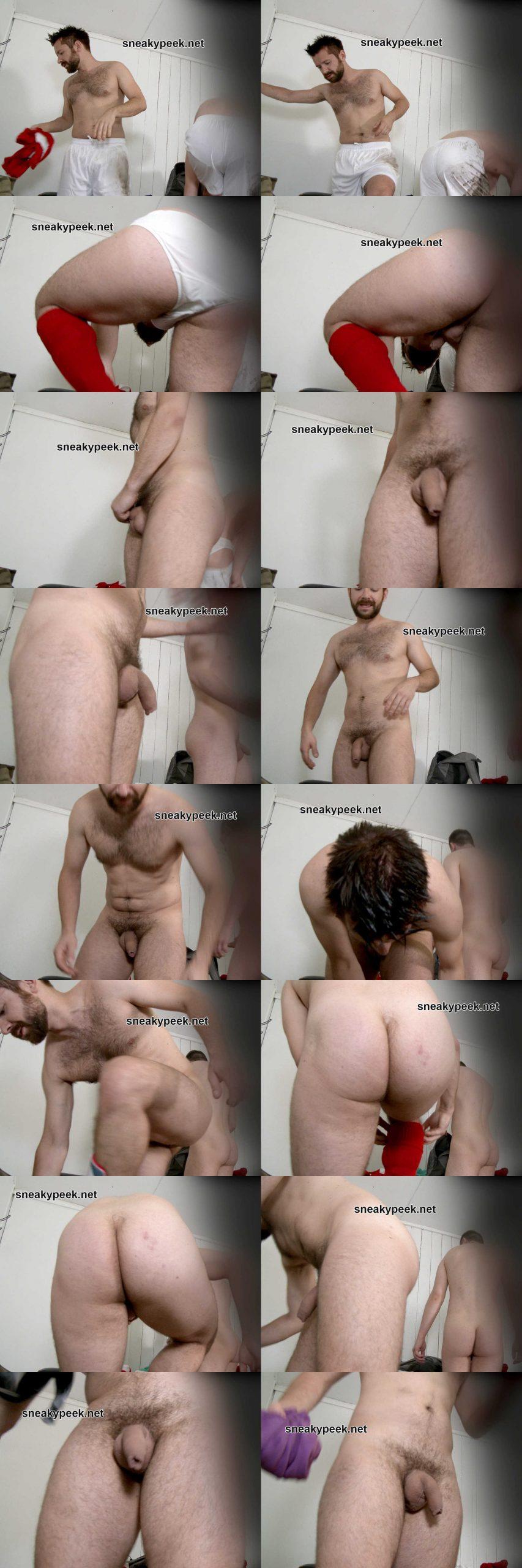 straight footballer caught undressing naked in locker room