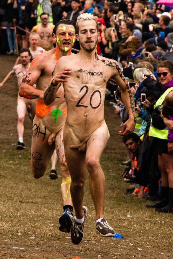 danish guys naked for the roskilde festival run