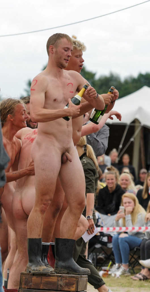 guys partying naked in public