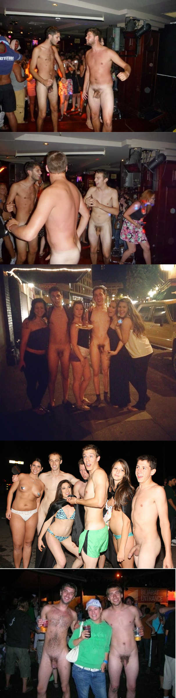 guys partying naked with clothed girls