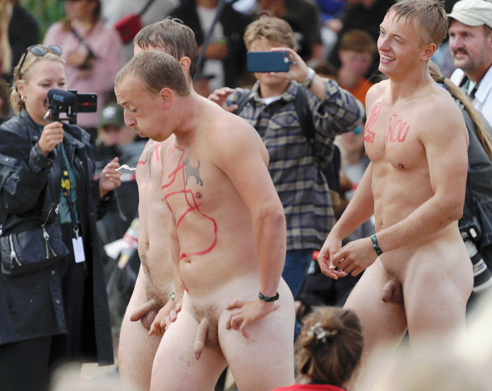 hot guys with uncut cocks naked in public