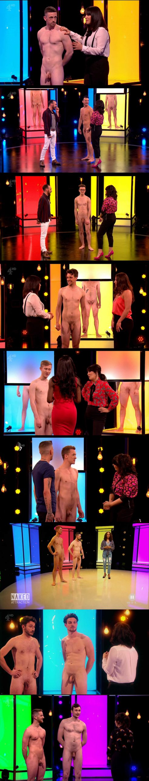 lots of guys going full frontal naked on tv for a dating show