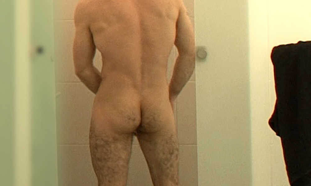 macho stud caught in shower by hidden camera