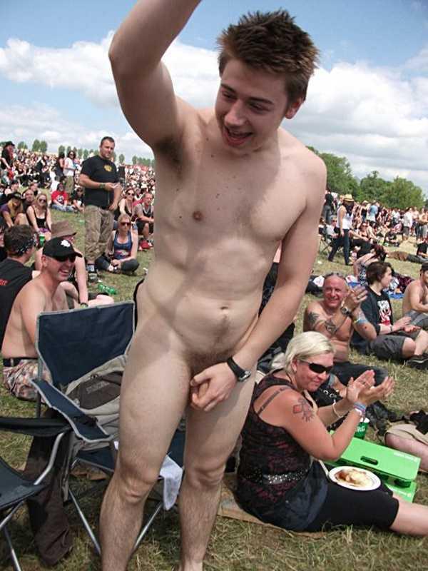 naked guy self grabbing
