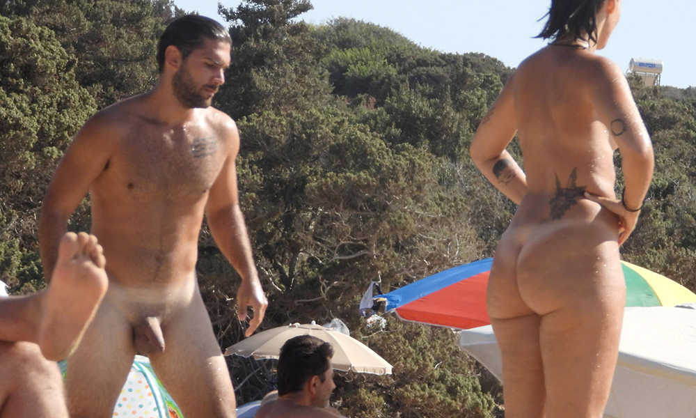 straight nudist guy caught over nudist beach greece