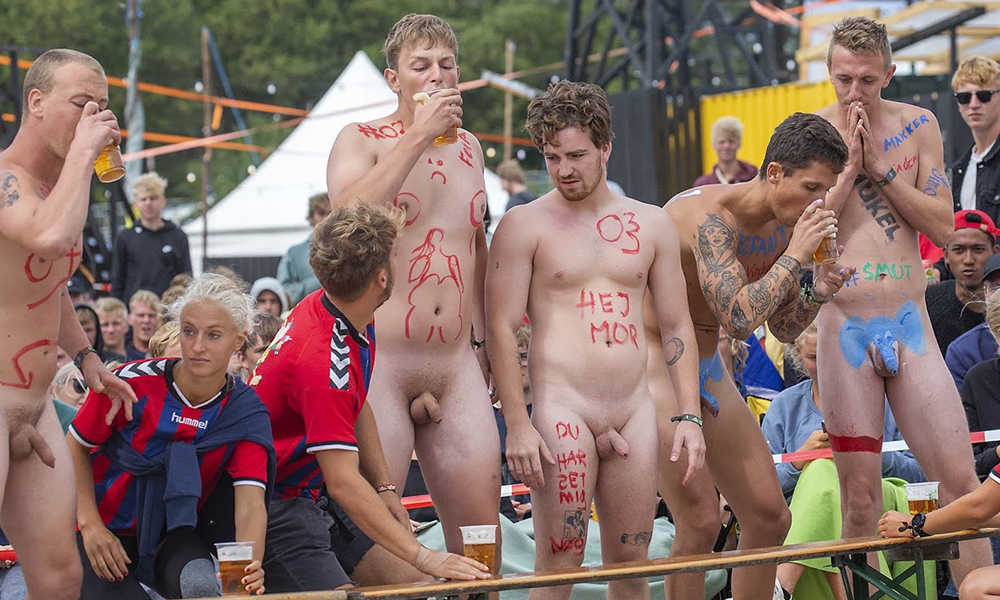 uncut guys naked in public