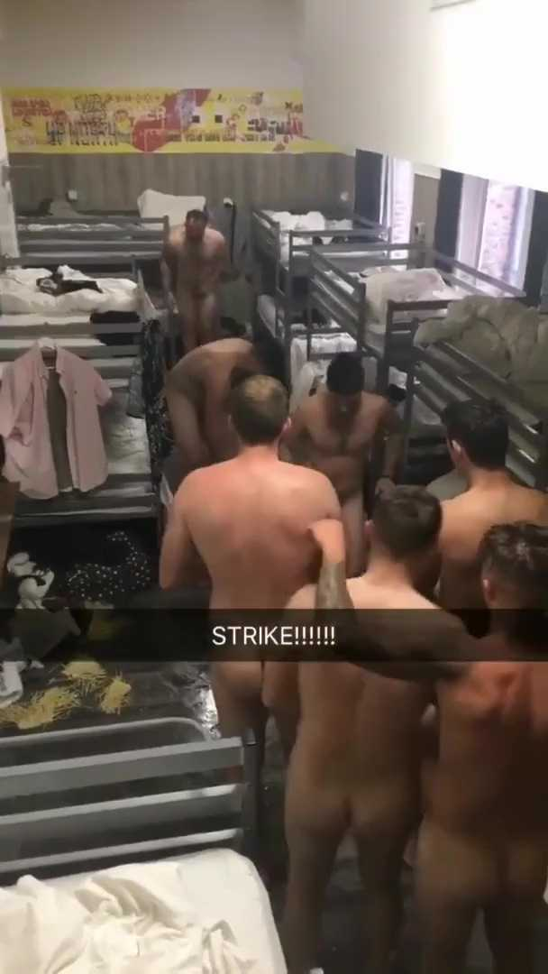 Soldiers naked fun in barracks-00001